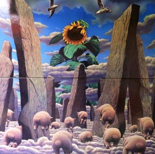 「陶板画モニュメント《雲界》」