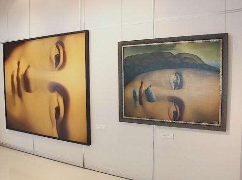 泉谷淑夫展作品の展示風景(1)