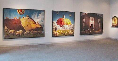 泉谷淑夫展作品の展示風景(2)