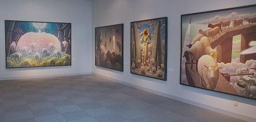 泉谷淑夫展作品の展示風景(3)