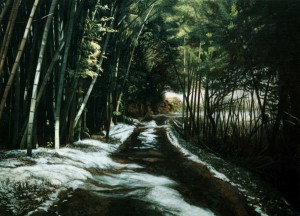 《残雪の道》