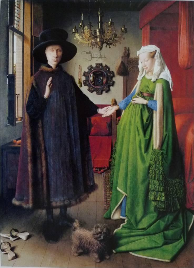 《アルノルフィーニ夫妻の肖像》ヤン・ヴァン・エイク